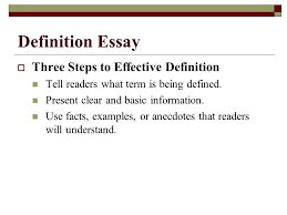 types of essays lane definition essay  three steps to  2 definition