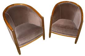 art deco furniture restoration. art deco style club tub chairs french furniture restoration d