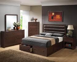 black wood bedroom furniture. Terrific Black Wooden Bedroom Furniture Set And Modern Leather Upholstered Headboard Also Square Vanity Mirror Excellent Wood .