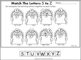 Thanksgiving Letter Matching (S-Z) | November | Pinterest ...