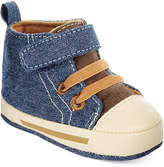 First Impressions Baby Shoes Size Chart Baby Boys High Top Denim Sneakers