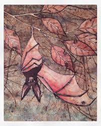 bat painting taken from my sketchbook pen ink watercolour