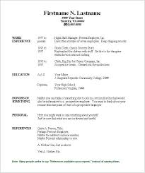Resume Formats Word Classy Resume Format Microsoft Word 48 Download Free Templates Printable