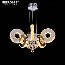 modern led crystal chandelier 5 rings suspension light fixture led drop re for hotel project home decoration led luminaire light chandelier stained