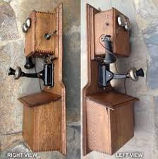 phone number wiring diagram magneto wall telephones details about wesco supply 32 double box antique magneto oak wall telephone a original shape