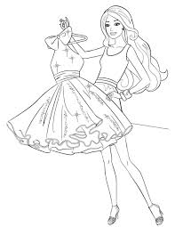 Colouring Pages Barbie Princess Coloring Pages With Barbie