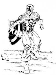 Small Picture The Avengers Character Captain America Coloring Page Download