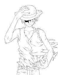 Tranh tô màu One Piece thuyền trưởng mũ rơm cho bé