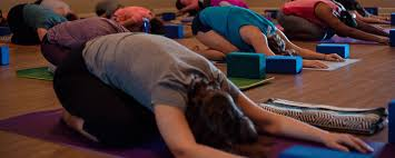 childs pose at mindful motion yoga