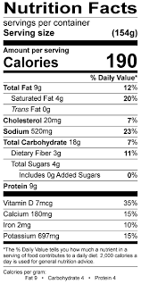 three bean top n go doritos nutrition label