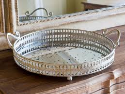 antiqued mirrored vanity tray