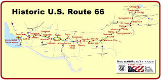 route 66 maps in each state route 66