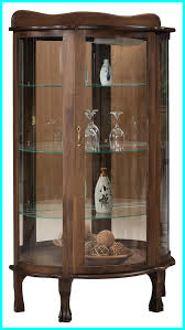 uncategorized curved glass curio cabinets best amish curio cabinet with mirror back glass shelves china of curved concept and trends