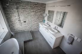 modern bathroom remodels. Modern Bathroom Renovation Process · Feature Wall Double Vanity Remodels