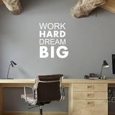 Work hard dream big <b>English inspirational</b> slogan wall sticker <b>office</b> ...
