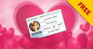 Printable Identification Card Free Printable Child Identification Card Momstart