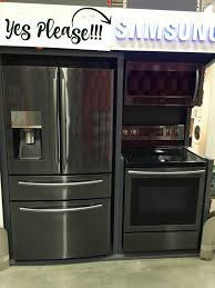 samsung black stainless steel. When We Were There, I Stumbled Across Samsung\u0027s New Line Of Black Stainless Steel Appliances And Fell In Love! They Would Be Perfect The House! Samsung N
