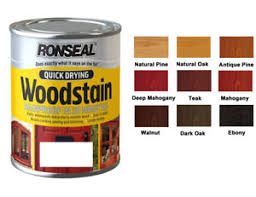 Ronseal Varnish Colour Chart Details About Ronseal Quick Dry Rainproof Woodstain Satin 750ml In Various Colour Exterior W