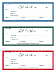 Free Printable Gift Certificates Template Free Gift Certificate Template Word