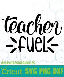 Cricut design space, and silhouette designer edition, make the cut (mtc), sure cuts a lot (scal), and brother scan and cut canvas software. Teacher Fuel Free Designs Svg Esp Png Dxf For Cricut Movie Design Bundles