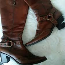 Tamaris Brown Cowboy Cowgirl Heel Boots
