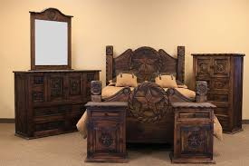 lone star rustic furniture. Country Rope And Star Rustic Bedroom Set With Medio Finish To Lone Furniture