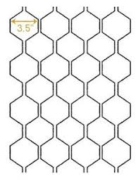 Printable Sheet Of Hexagon Graph Paper (Pdf File) To Design Your Own ...