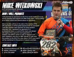 Motocross Resume Template Sidemcicek Com Mx Sponsorship Sample