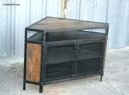 Industrial Look Tv Stand Corner Vintage  Unit Urban Modern Loft Diy Rustic  Rustic Industrial Tv Stand 557