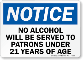 No Under Shipping Drinking Signs 21 Free