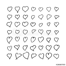set of hand drawn doodle hearts valentines heart decorative heart background with lot of valentines hearts vector ilration vector