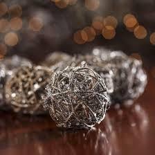 Decorative Vase Filler Balls Cool Small SilverGlittered Rattan Balls Vase Fillers Table Scatters