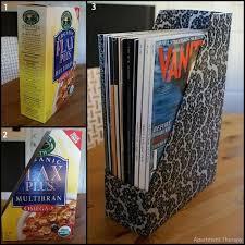 Magazine Holder From Cereal Box Recicla Y Organiza Tus Papeles Recicla Caja De Cereal Bedroom 91