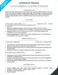 writing sample for internship sample internship resume objective format for writing orlandomoving co