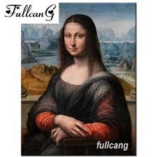 <b>FULLCANG</b> full square <b>diamond</b> embroidery mona Lisa <b>diy diamond</b> ...