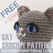 Free Crochet Cat Patterns Enchanting Simple Free Crochet Cat Pattern Hooked On Patterns
