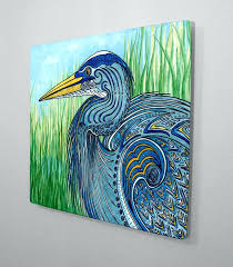 heron wall art great blue heron aluminum wall art heron outdoor wall art copper heron wall heron wall art great blue