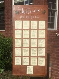 Wood Wedding Sign Seating Chart Sign Wedding Reception Signs