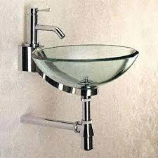 bathroom glass sink sinks bowl glass sink with chrome trim for small bathroom solo glass bathroom