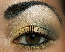 your fnished will be a dramatic golden smokey eye