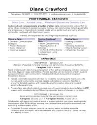 Caregiver Sample Resume Caregiver Resume Sample Monster 1