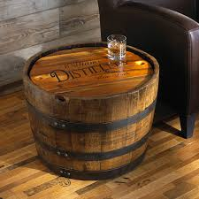 wine barrel furniture wine enthusiast personalized whiskey barrel table