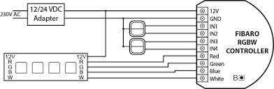 rgbw controller z wave controller fibaro manuals rgbw strip wiring diagram strip
