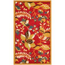 safavieh newbury red gold 3 ft x 5 ft area rug