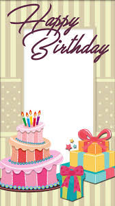 birthday frames png pretty frame with cake svg free stock