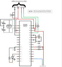 csound journal gm5 midi chip by ploytec wired as a usb midi interface note that the gm5 is a qfn smd and is not physically formed as the schematic depicts