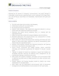 Event Management Job Description Resume 100 Best Images of Special Events Manager Job Description Events 54