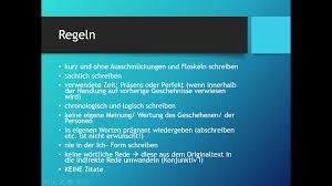 Deutsch Thema Wie Schreibe Ich Eine Inhaltsangabe Youtube