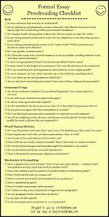 proofreading checklist for the basic essay essay checklist