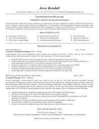 Transportation Resume Examples 14 15 Transportation Resumes Examples Ripenorthpark Com